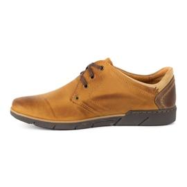 Polbut Men's leather shoes 2103 camel brown 1