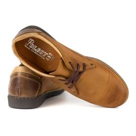 Polbut Men's leather shoes 2103 camel brown 4