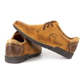 Polbut Men's leather shoes 2103 camel brown 5