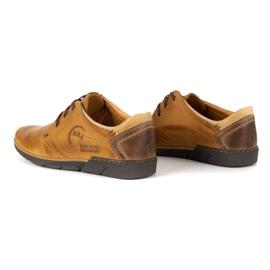 Polbut Men's leather shoes 2103 camel brown 6