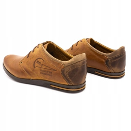 Polbut Men's leather shoes 2103 camel brown 7
