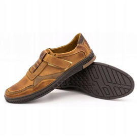 Polbut Men's casual leather shoes 2102 camel brown 3