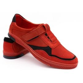 Polbut Men's casual leather shoes 2102 red 4