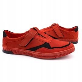 Polbut Men's casual leather shoes 2102 red 5