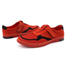 Polbut Men's casual leather shoes 2102 red 6