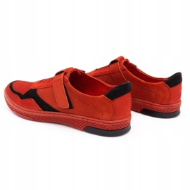 Polbut Men's casual leather shoes 2102 red 7