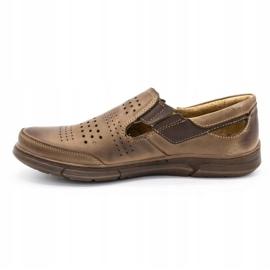 Polbut Men's summer shoes J53 brown 1