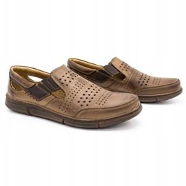 Polbut Men's summer shoes J53 brown 2
