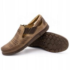 Polbut Men's summer shoes J53 brown 3