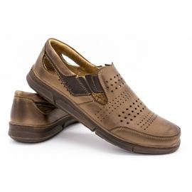 Polbut Men's summer shoes J53 brown 4