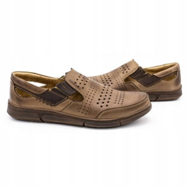 Polbut Men's summer shoes J53 brown 5