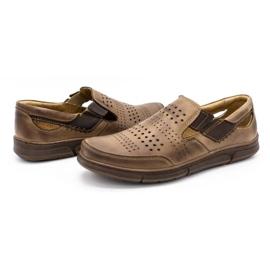 Polbut Men's summer shoes J53 brown 6
