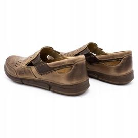Polbut Men's summer shoes J53 brown 7