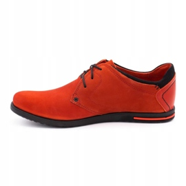 Polbut Men's leather shoes 2103 red 2