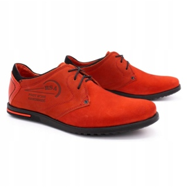 Polbut Men's leather shoes 2103 red 3