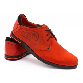 Polbut Men's leather shoes 2103 red 5