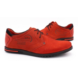 Polbut Men's leather shoes 2103 red 6