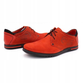 Polbut Men's leather shoes 2103 red 7