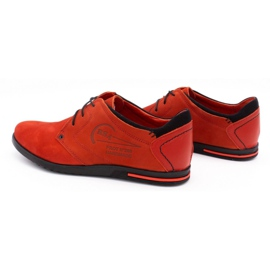 Polbut Men's leather shoes 2103 red 8