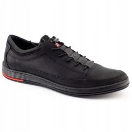 Polbut Men's leather casual shoes K22N black 2