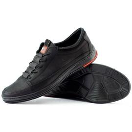 Polbut Men's leather casual shoes K22N black 4