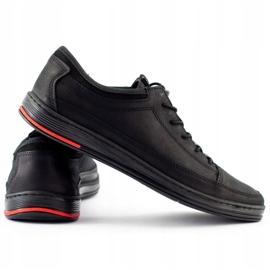 Polbut Men's leather casual shoes K22N black 5