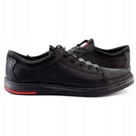 Polbut Men's leather casual shoes K22N black 6