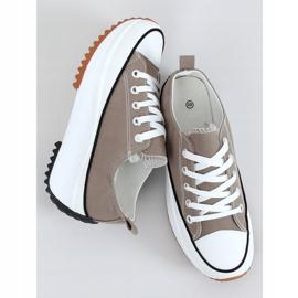 Sneakers designer sole in khaki VL137P Green 1
