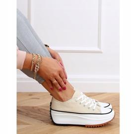 Designer sneakers beige VL137P Beige sole 3