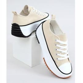 Designer sneakers beige VL137P Beige sole 1