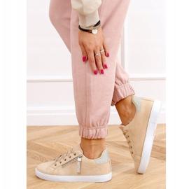Beige women's beige sneakers C2006 3