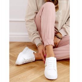 White women's sneakers LA129P Beige 2