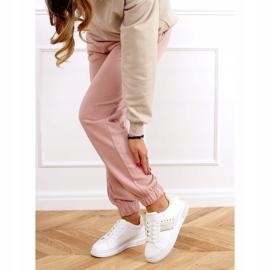 White women's sneakers LA129P Beige 3