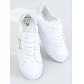 White women's sneakers LA129P Beige 1
