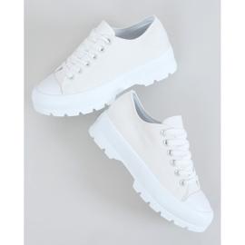 White women's sneakers LA138 White 1