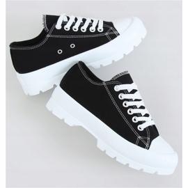 Black women's sneakers LA138 Black 1