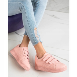 SHELOVET Fashionable Velcro Sneakers pink 2