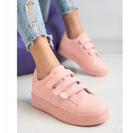 SHELOVET Fashionable Velcro Sneakers pink 1