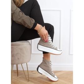Sneakers designer sole in khaki VL135P Green 2