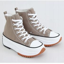 Sneakers designer sole in khaki VL135P Green 1