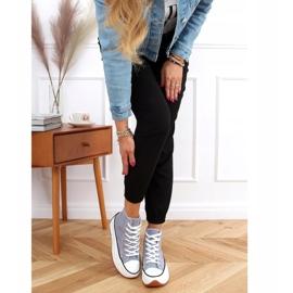Designer sneakers with blue VL135P L.BLUE sole 2