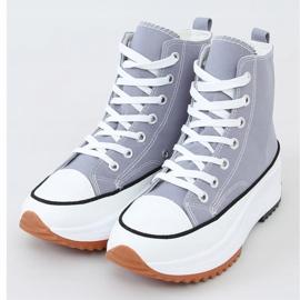 Designer sneakers with blue VL135P L.BLUE sole 1