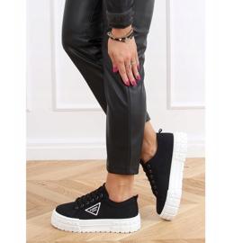 Black women's sneakers LA134 Black 4