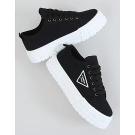 Black women's sneakers LA134 Black 1