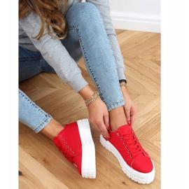 Red women's sneakers LA134 Red 2