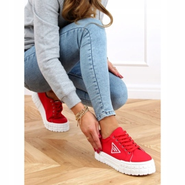 Red women's sneakers LA134 Red 3