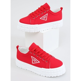 Red women's sneakers LA134 Red 1