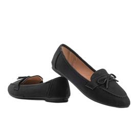 Lena black suede loafers 1