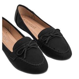 Lena black suede loafers 3