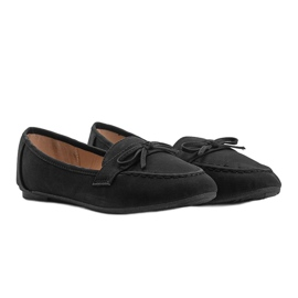 Lena black suede loafers 4